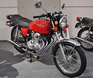 Red motor Bike